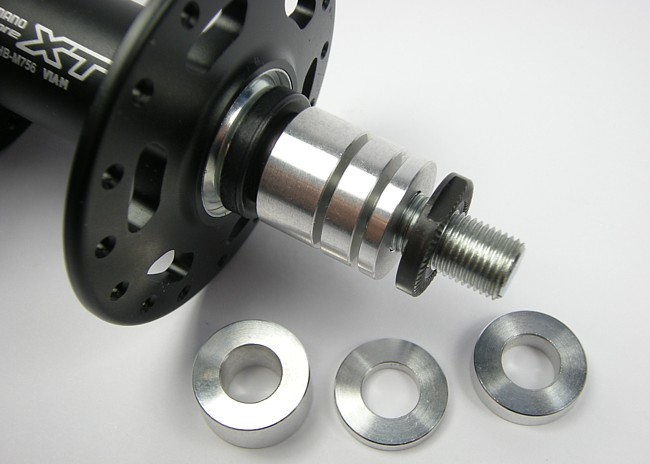3/5/10mm CNC spacers used to precisely change hub spacing