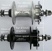 Shimano XT M756 FRONT HUB AXLE x 2 FREE SHIPPING in UK M10 x 1mm